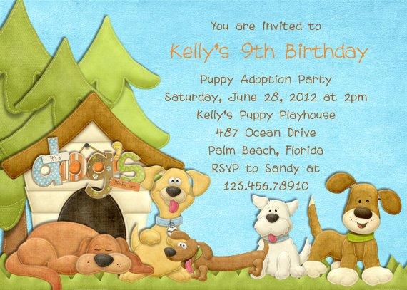 Dog Birthday Party Invitation Wording