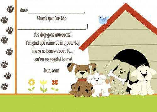 Dog Party Invitations Free