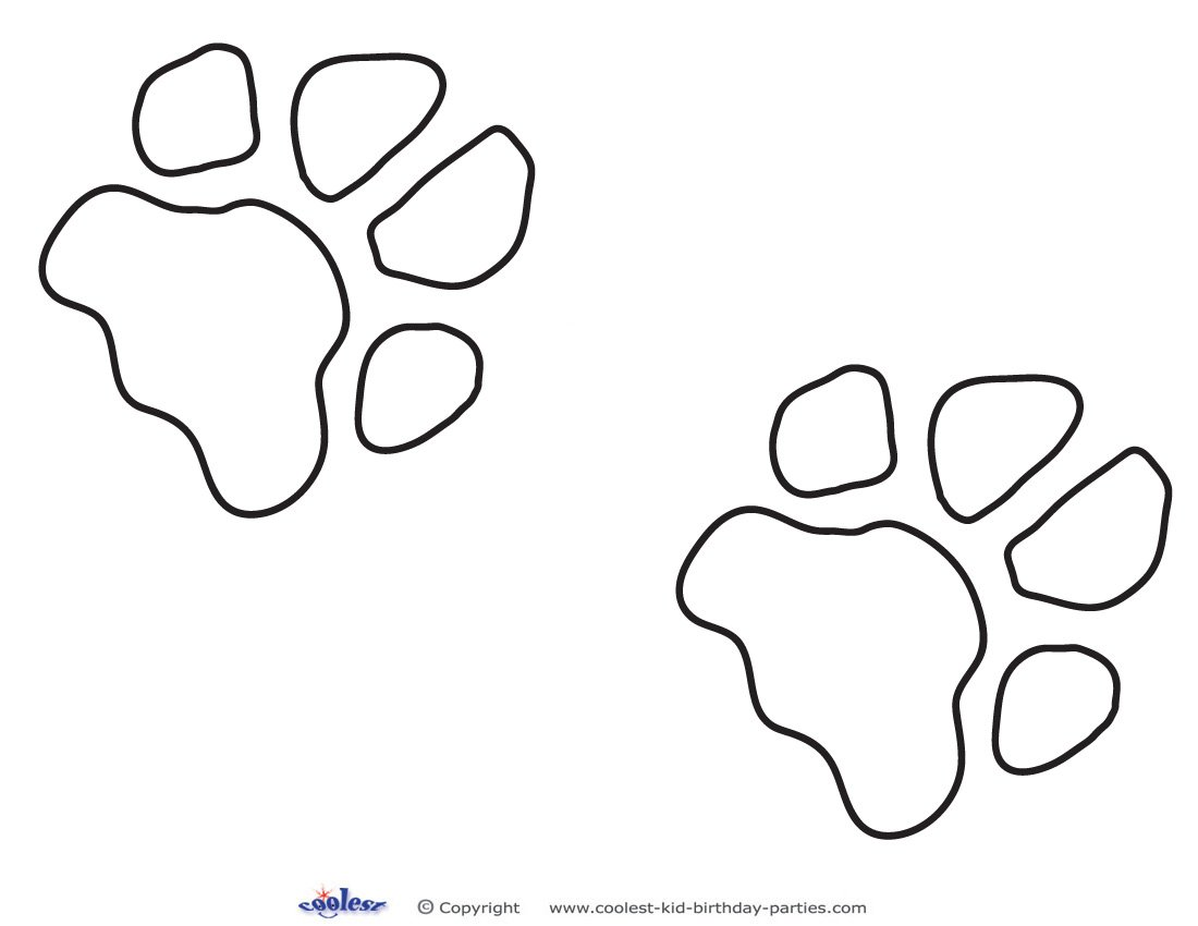 Dog Paw Print Templates Printable