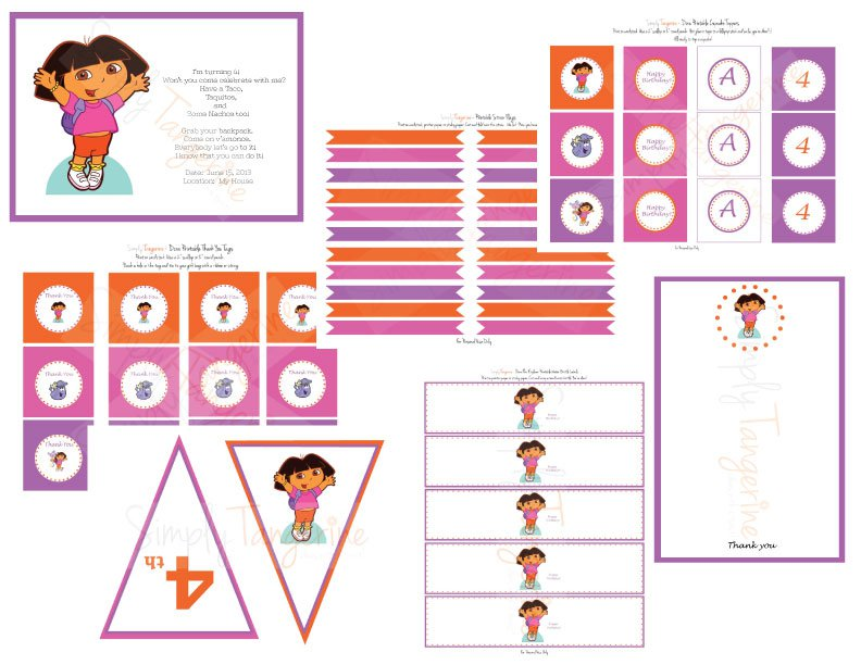 Dora Birthday Printables Free