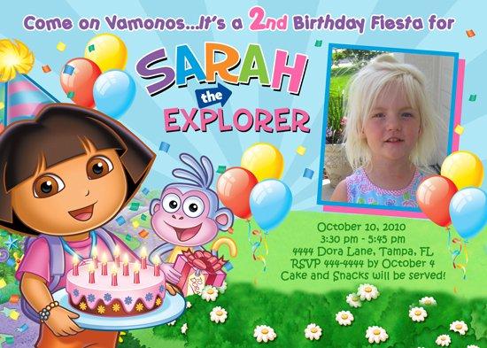 Dora Explorer Birthday Invitations Templates