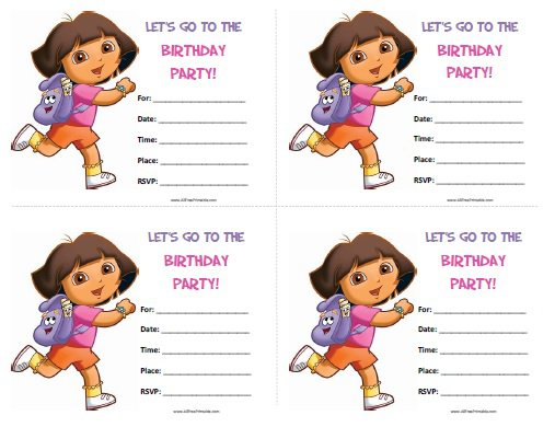 Dora Invitations Template Free