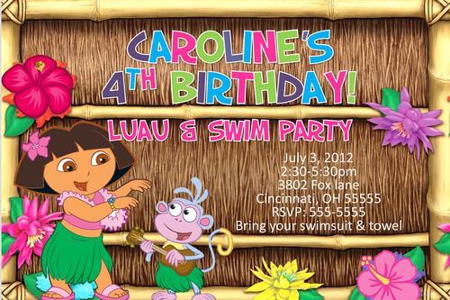 Dora The Explorer Pool Party