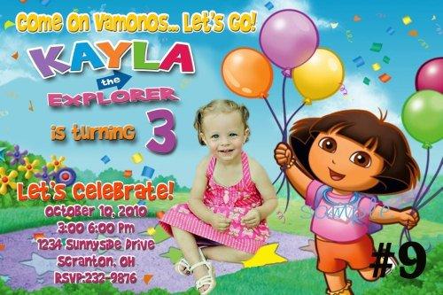 Dora The Explorer Printable Invitations