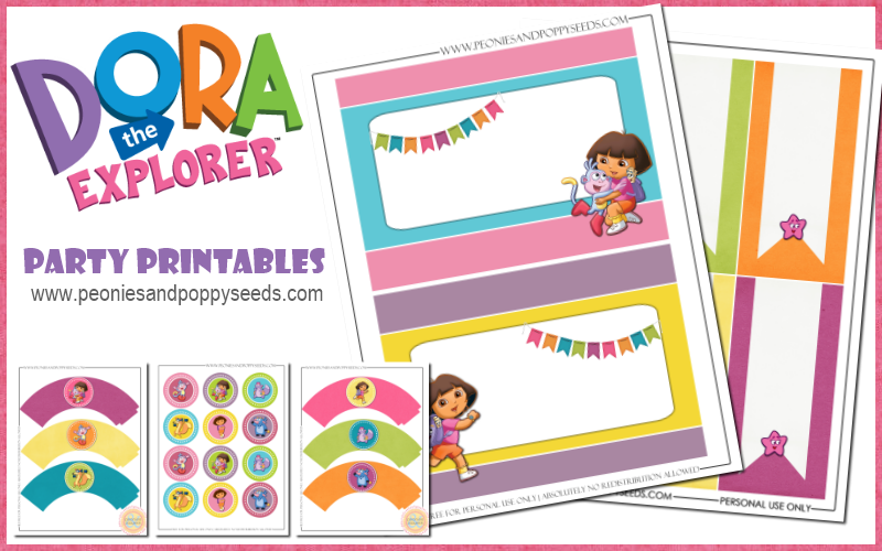 The Explorer Printables – Printable Dora Birthday Invitations