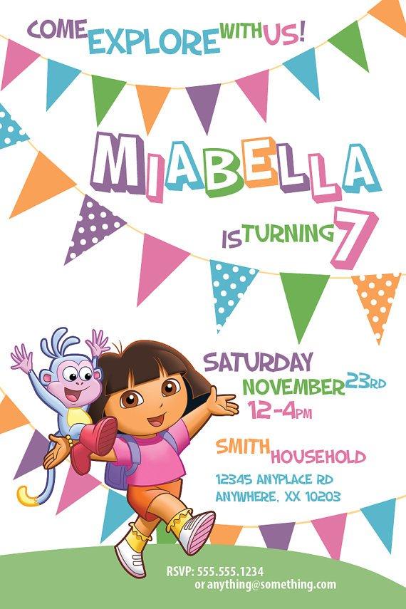 Dora The Explorer R Nmap Invitations