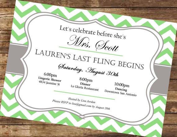Downloadable Bachelorette Invitations Printable
