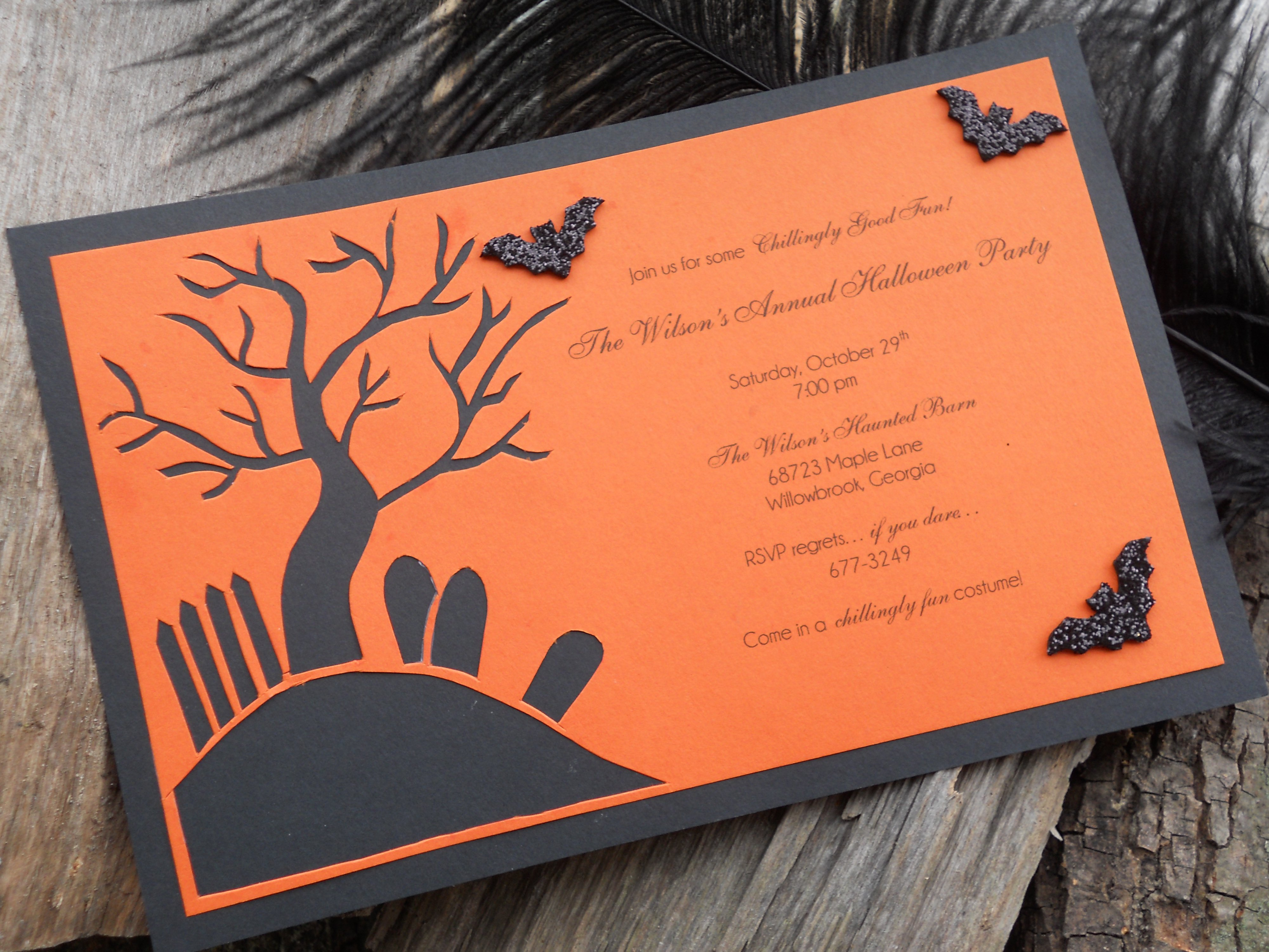 Easy To Make Halloween Invitations