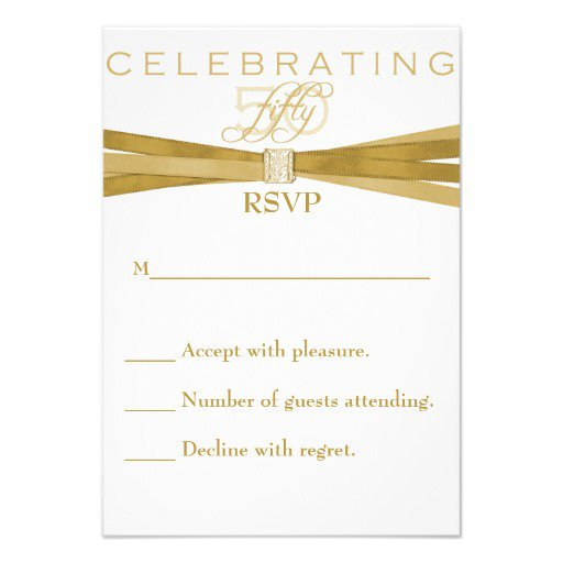 Elegant 50th Birthday Invitation Cards