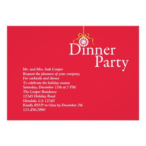 Elegant Christmas Party Invitation Wording
