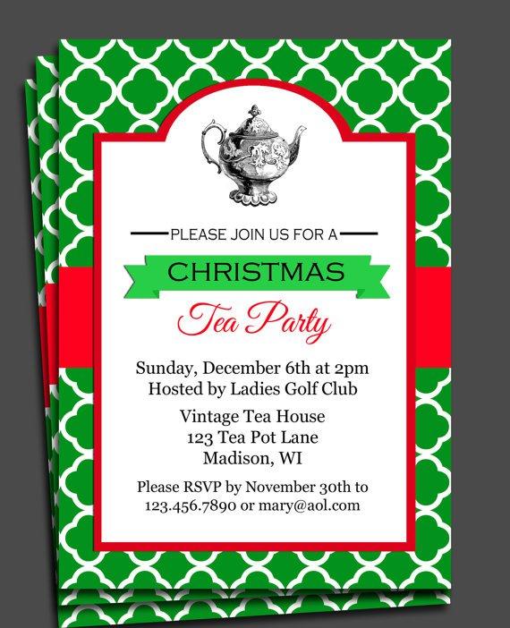 Elegant Christmas Party Invitations Printable