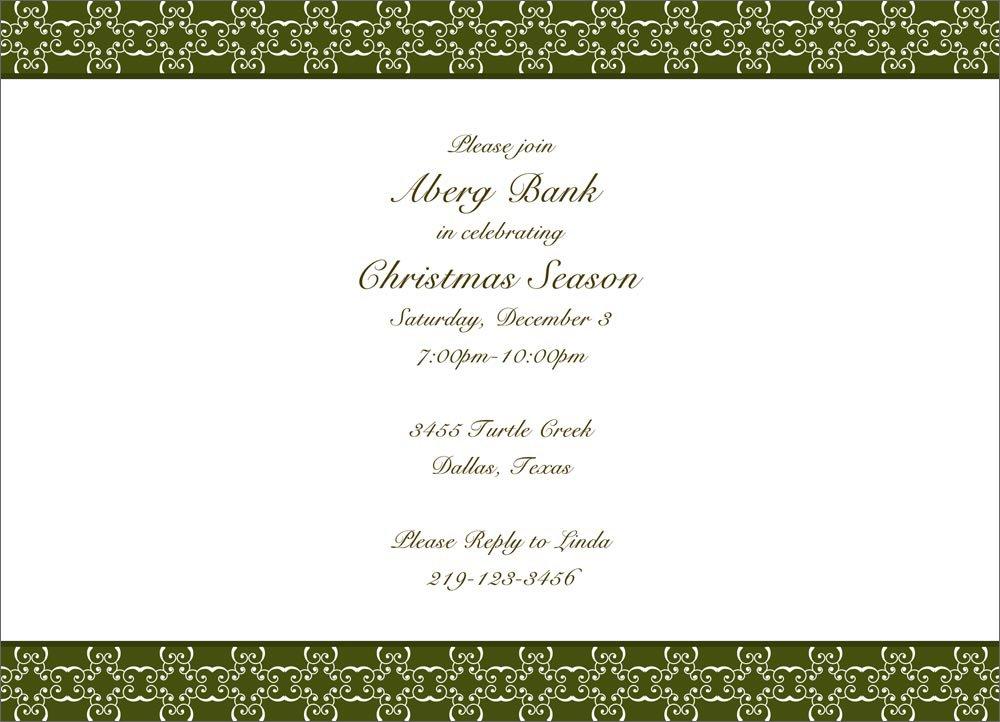 Elegant Corporate Party Invitations