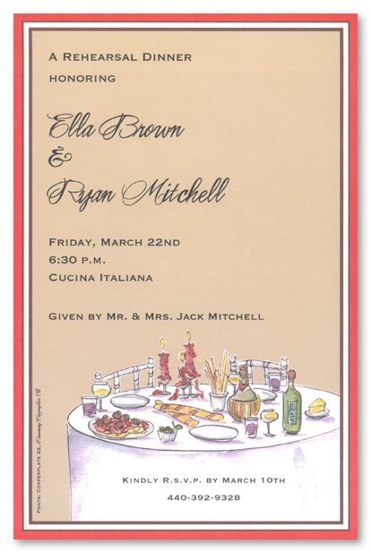 Elegant Dinner Invitation Templates