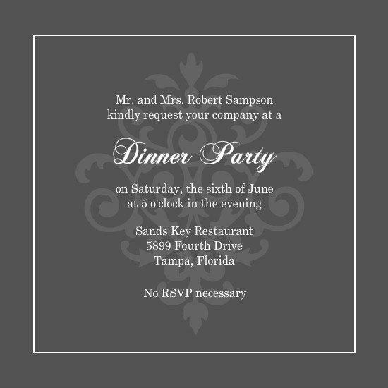 Elegant Dinner Party Invitations