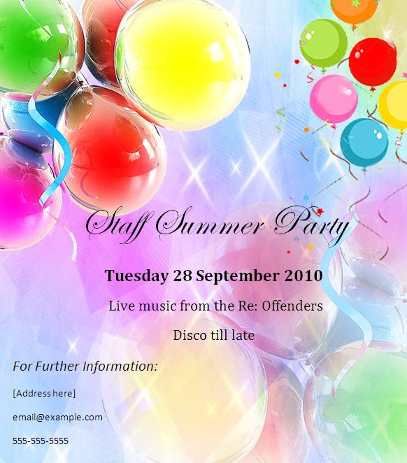 Fare Well Party Invitation Templates