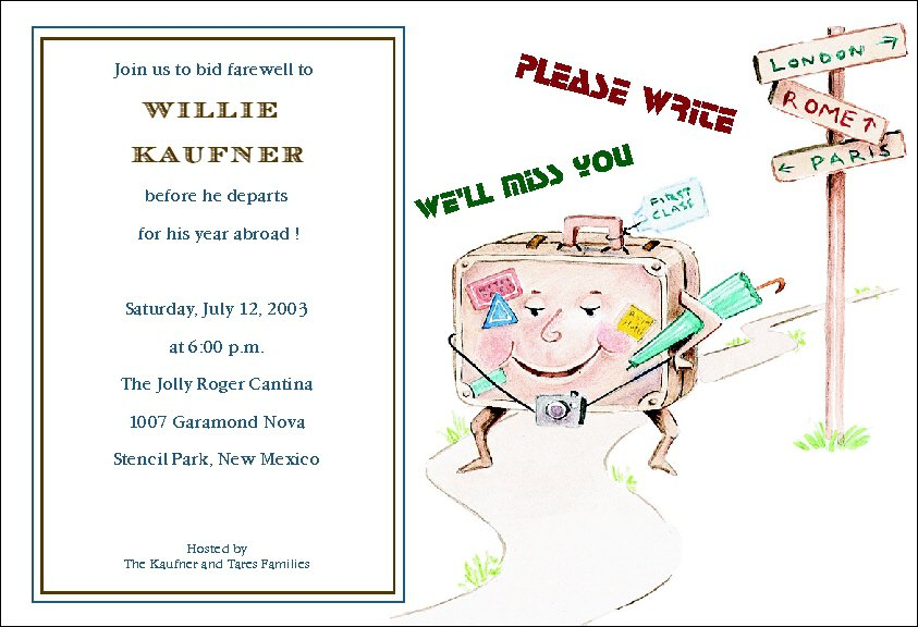 Fare Well Party Invitation Templates – Farewell Party Invitation Quotes