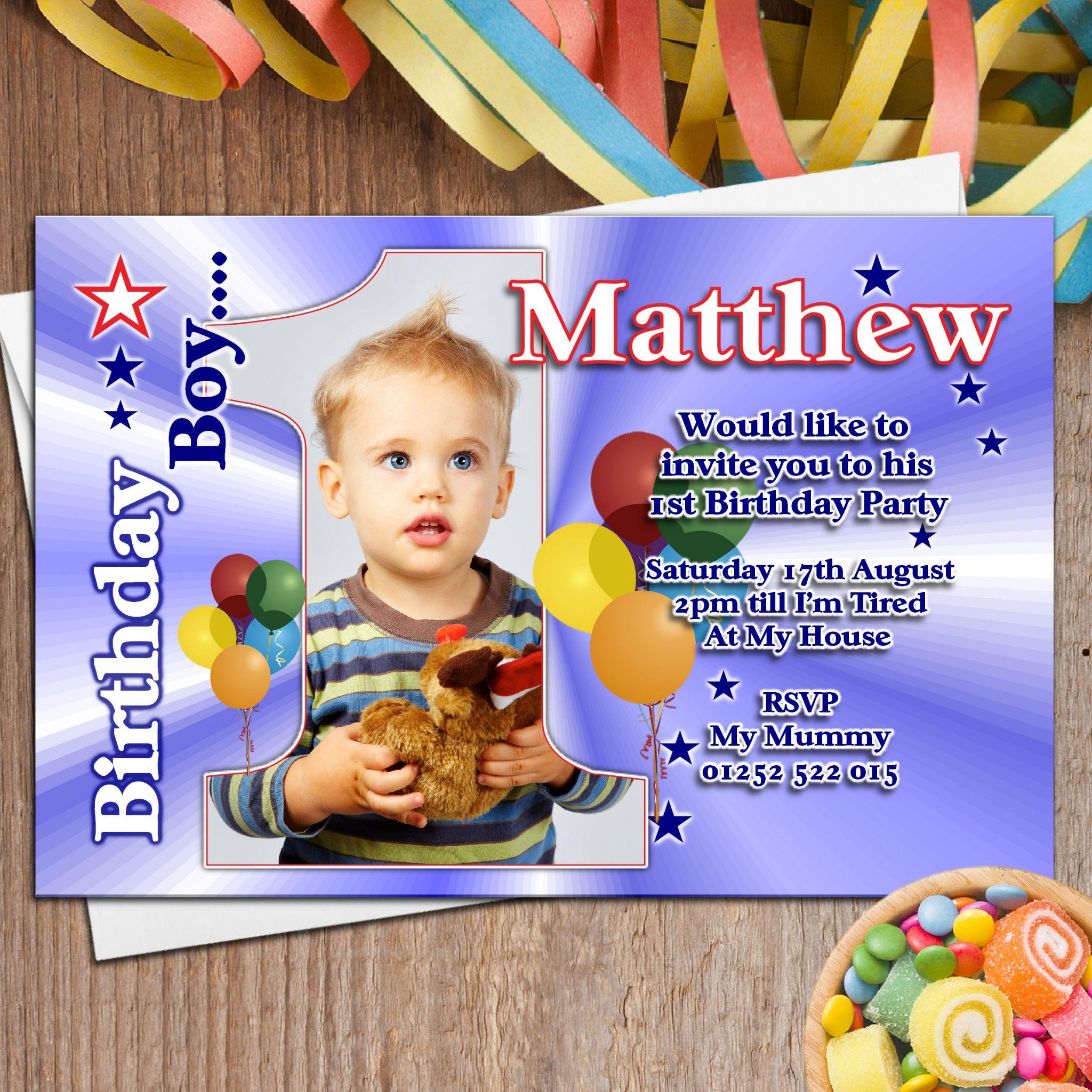 First Birthday Invitation Wording Samples