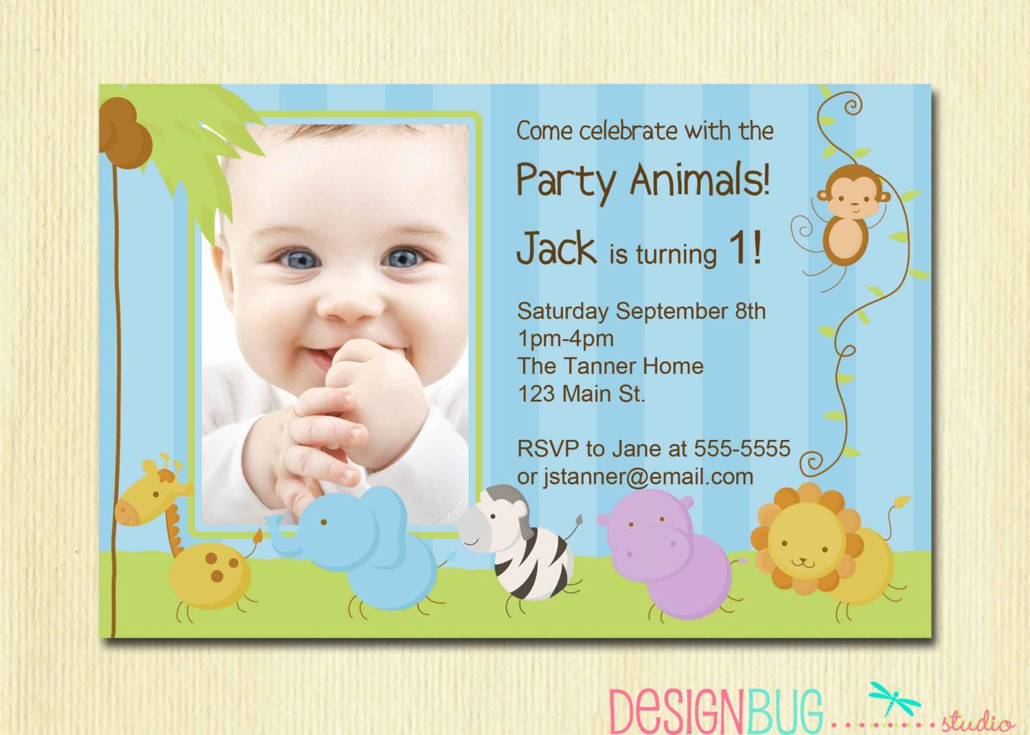 First Birthday Invitations For Boys