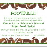 Football banquet invitation templates for High school football program template
