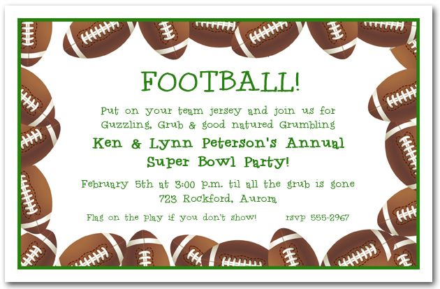 Football Banquet Invitation Template