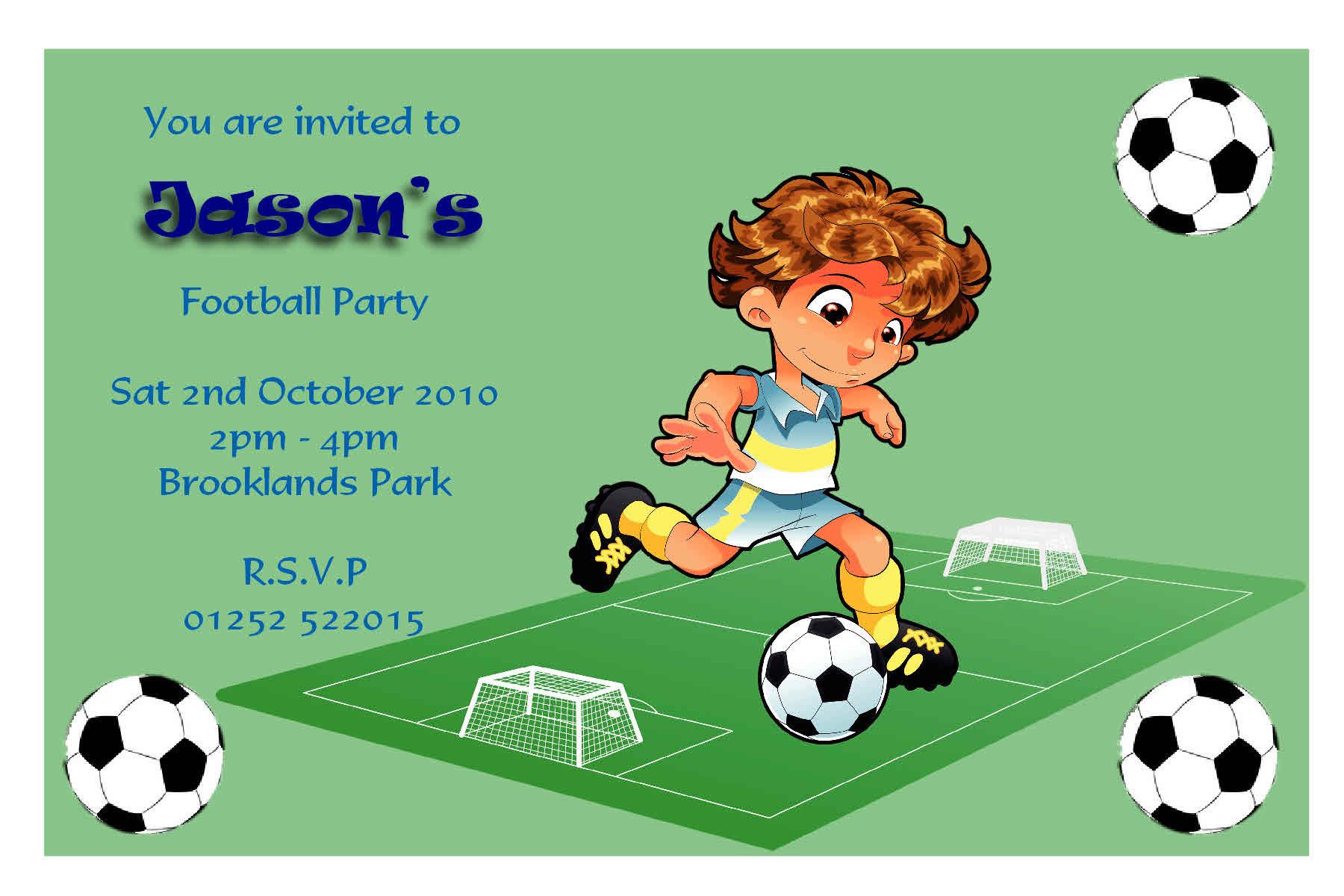 Football Birthday Invitation Template Free einmaleinshaus – Football Themed Birthday Invitations