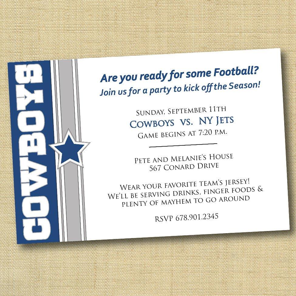 Football Invitations Printable Free