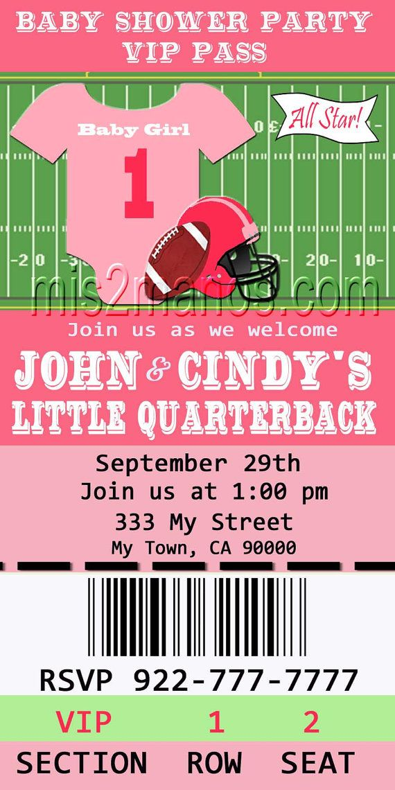 Football Invitations Printable Girls