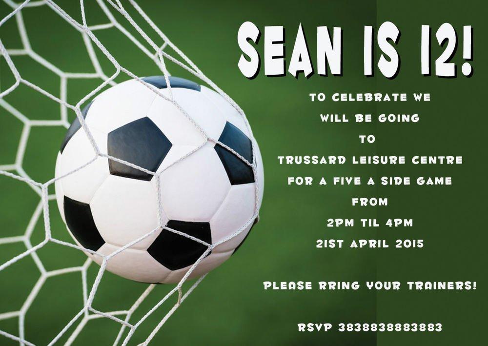 Football Party Invitations Free Printable Uk