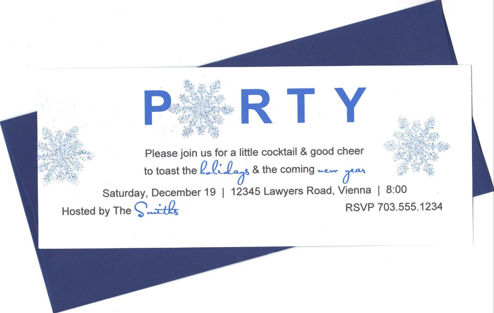 Funky Holiday Party Invites Elaboration Invitation Card