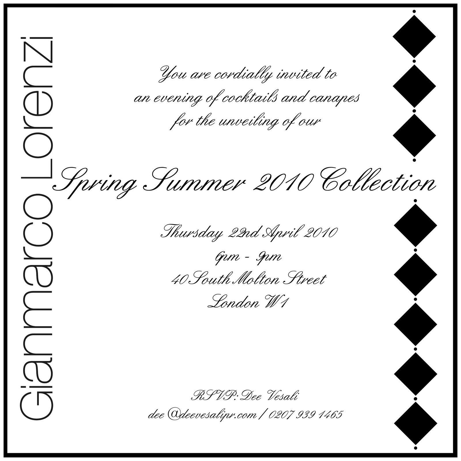 Formal Cocktail Reception Invitation