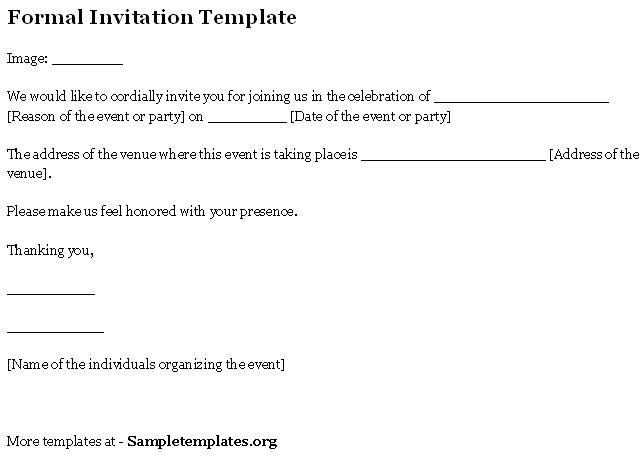 formal invitations templates free