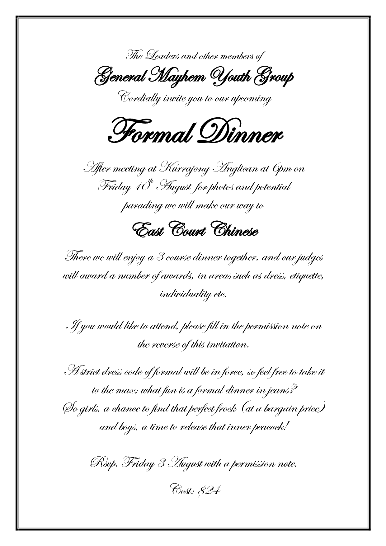 Formal event invitation formal event invitation wording 1240 x 1754 stopboris Choice Image