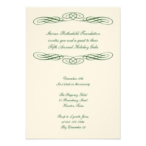 Formal Gala Invitations