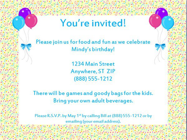 Free 30 Birthday Invitation Templates