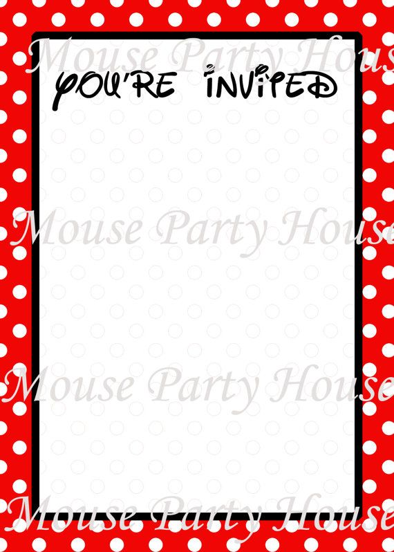 Free Blank Mickey Mouse Invitations