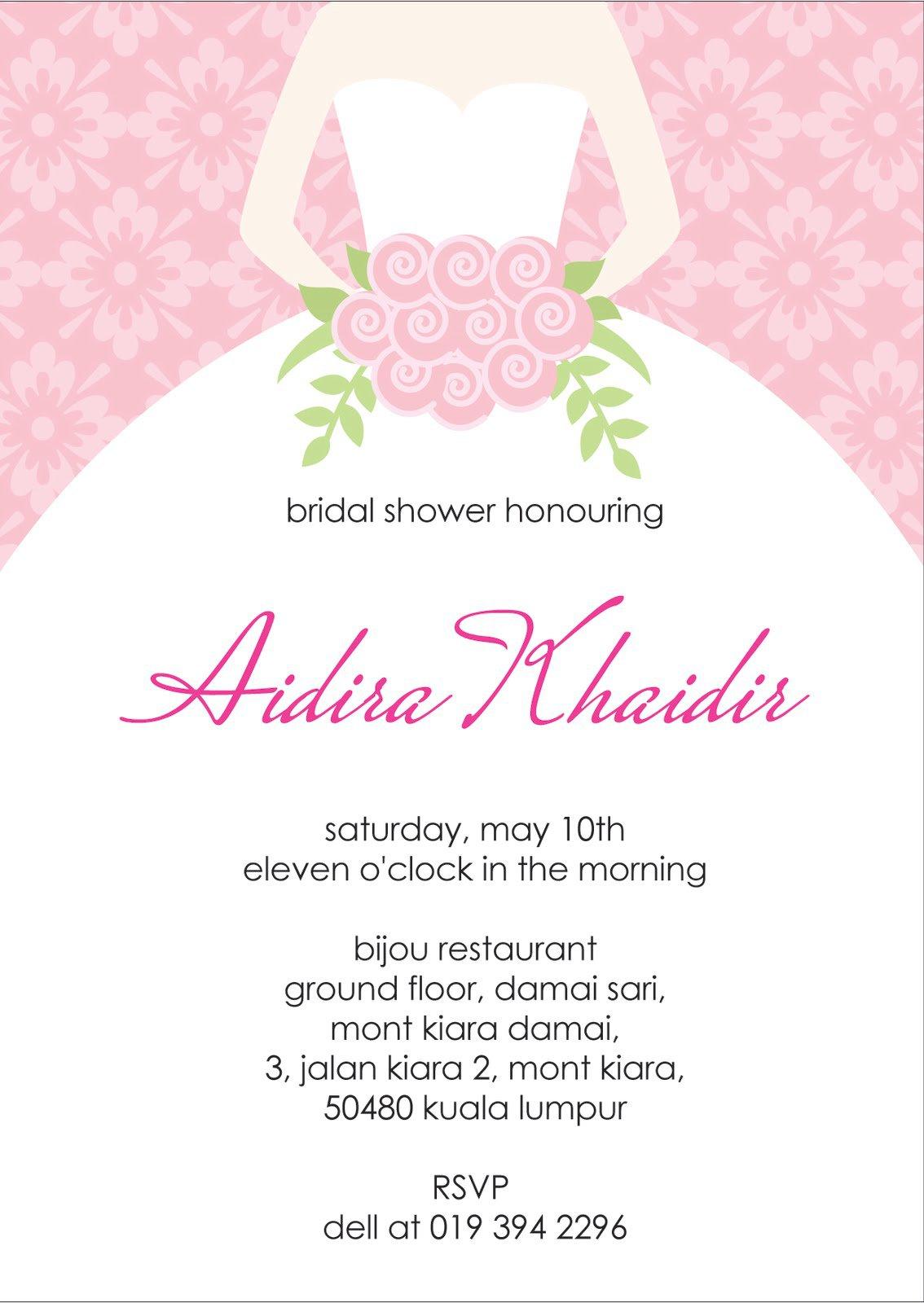Free Bridal Shower Invitation Cards Designs