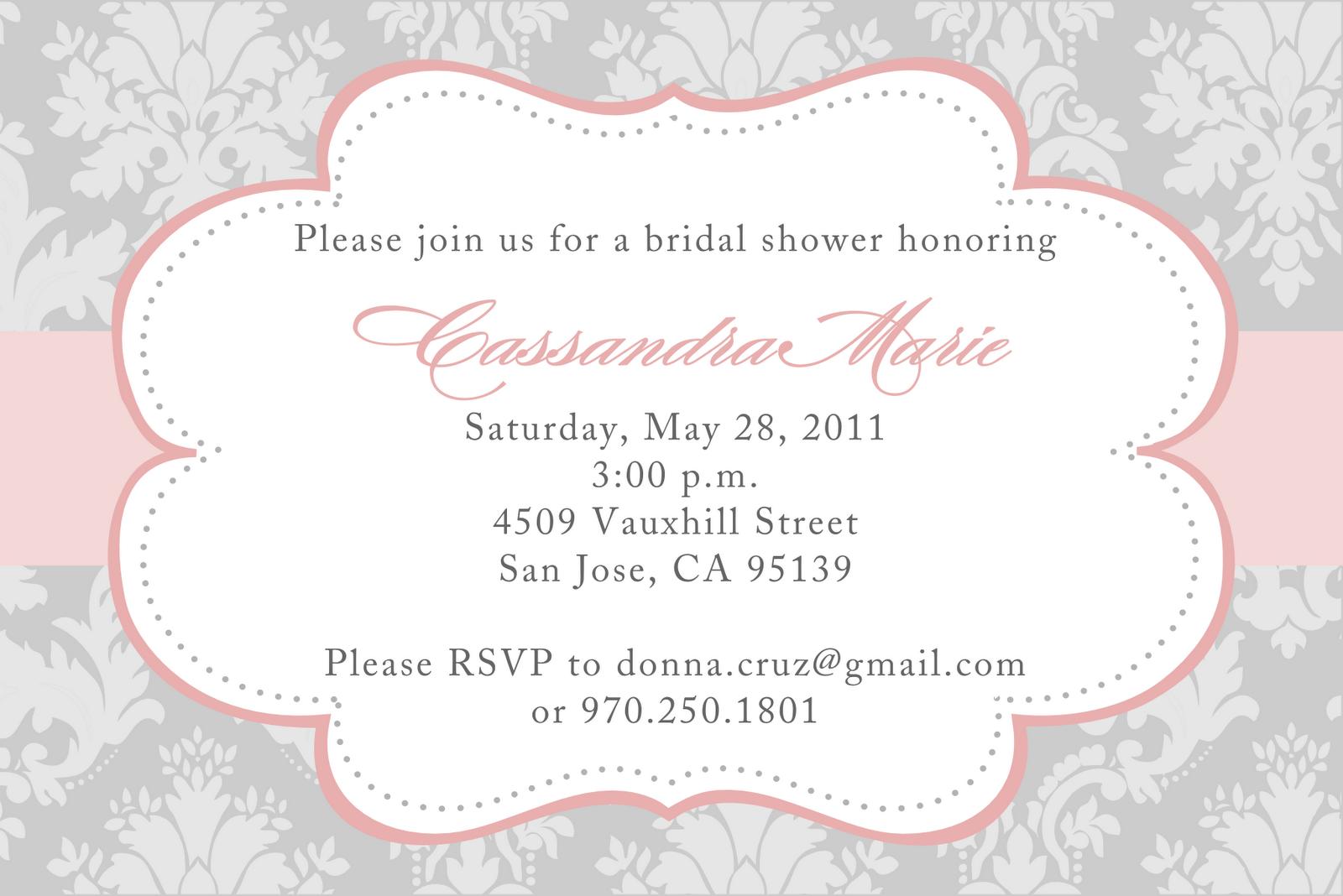 Free Bridal Shower Invitation Designs