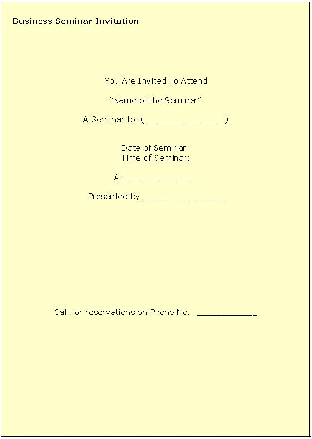 business invitation templates free
