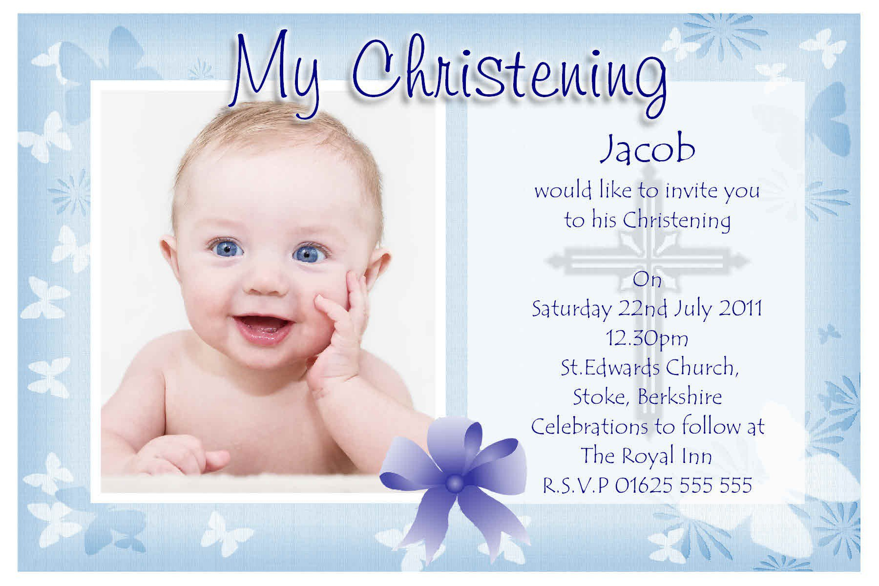 Free Christening Invitation Templates For Word