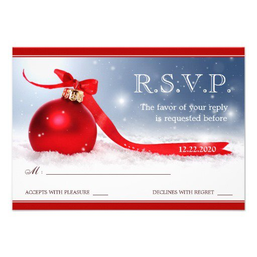 christmas party rsvp templates. Black Bedroom Furniture Sets. Home Design Ideas