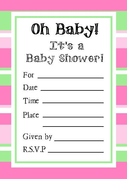 Free Customizable Baby Shower Invitations