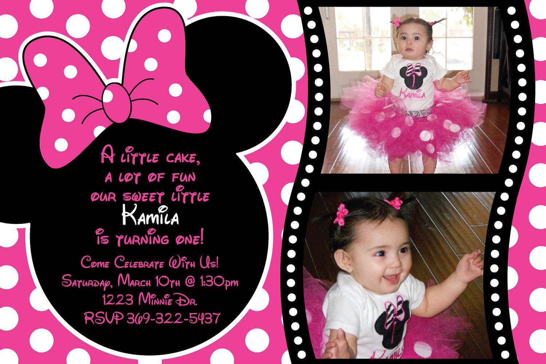 Free Customizable Minnie Mouse Birthday Invitations