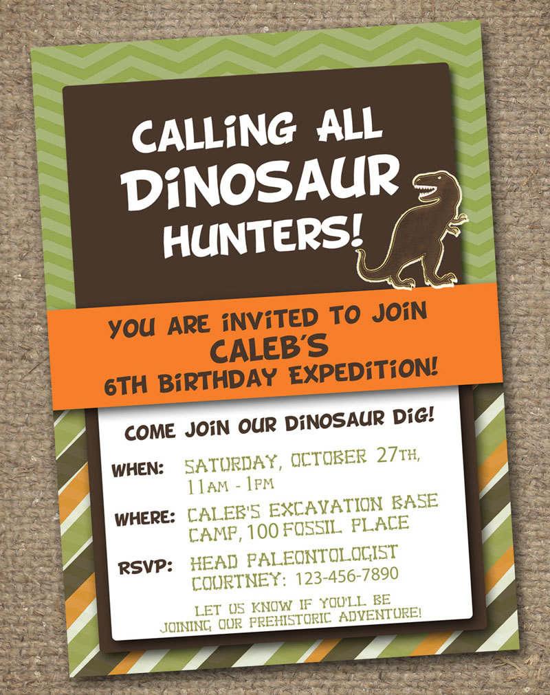 Free Dinosaur Party Invitation Templates