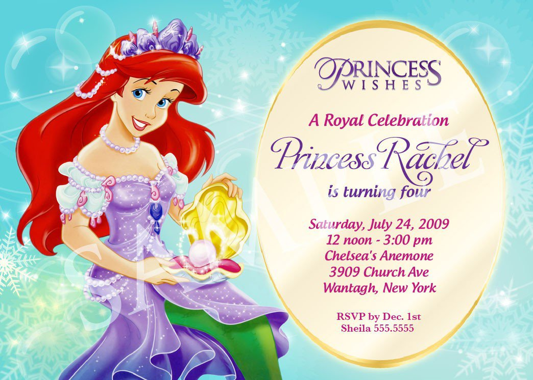Free Disney Princess Birthday Party Invitation Templates