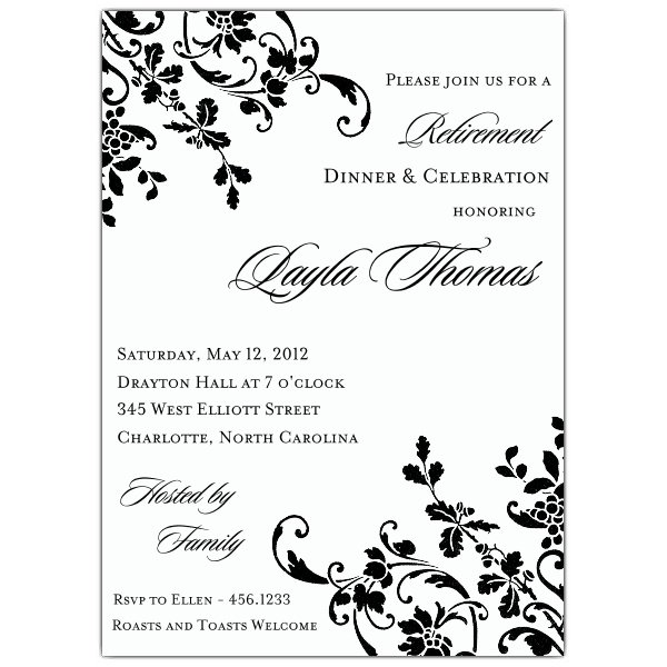 Free Downloadable Templates For Retirement Party Invitations