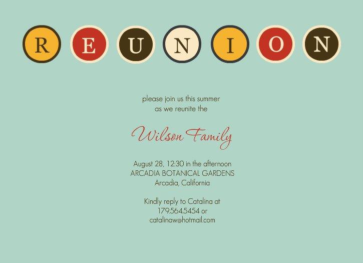 Free Family Reunion Invitations Templates