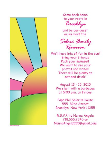 Free Family Reunion Invitations To Print
