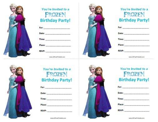 Free Frozen Printable Birthday Invitations For Girls