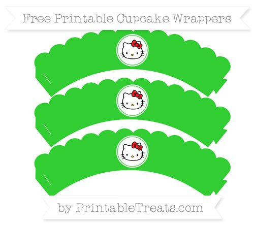 Free Hello Kitty Printable Cupcake Wrappers