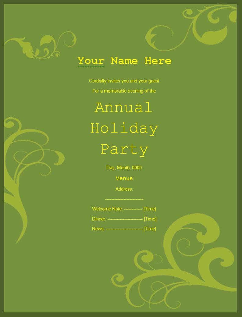 Free Invitation Card Templates For Word